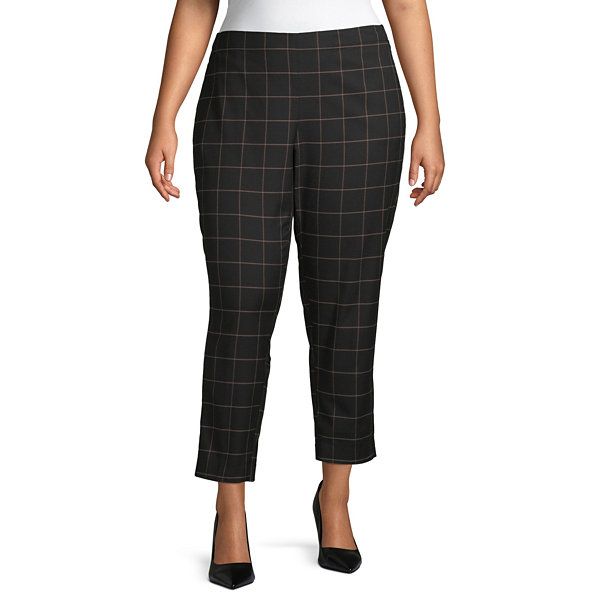 Liz Claiborne Simply Womens Pull-On Pants-Plus