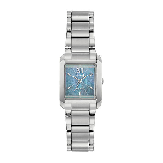 Citizen Bianca Womens Silver Tone Stainless Steel Bracelet Watch - Ew5551-56n
