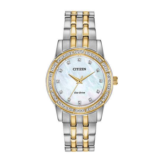 Citizen Womens Two Tone Bracelet Watch-Em0774-51d