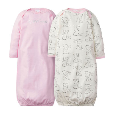 Gerber Baby Girls 2-pc. Crew Neck Nightgown