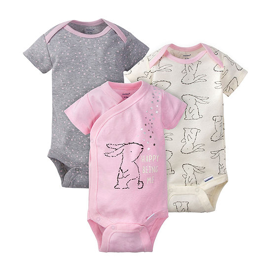 Gerber Baby Girls 3-pc. Bodysuit
