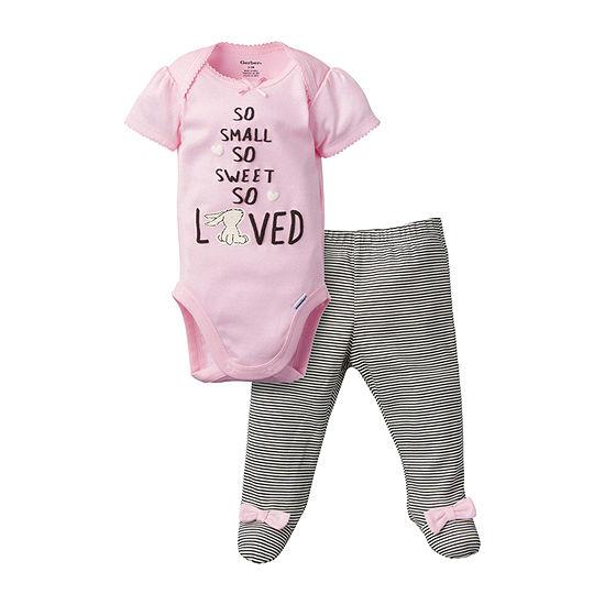 Gerber Girls 2-pc. Animal Pant Set Baby