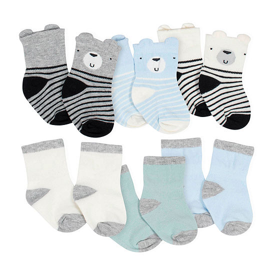 Gerber Baby Boys 6 Pair Crew Socks