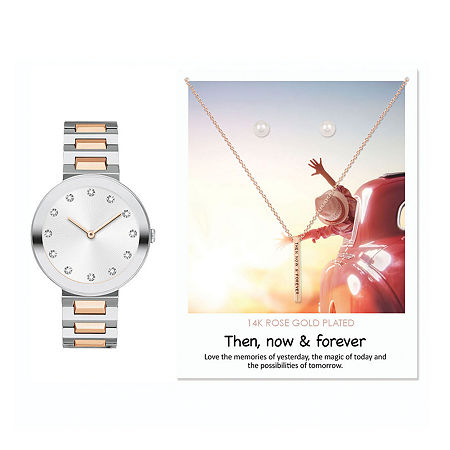 Alexis Bendel Then, Now & Forever Womens Two Tone 3-pc. Watch Boxed Set-7869s-18-B35