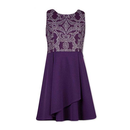 Speechless Big Girls Embellished Sleeveless A-Line Dress