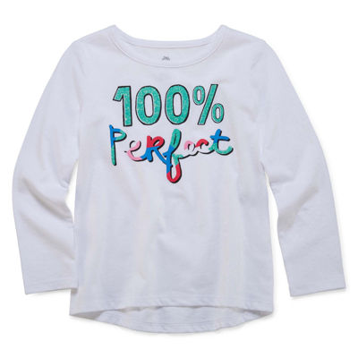 Okie Dokie® Long-Sleeve High-Low-Hem Graphic Tee - Toddler Girls 2t-5t