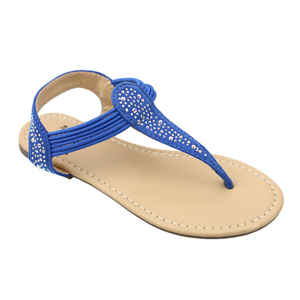 OMGirl Aria Girls Bungee Strap Sandals - Little Kid