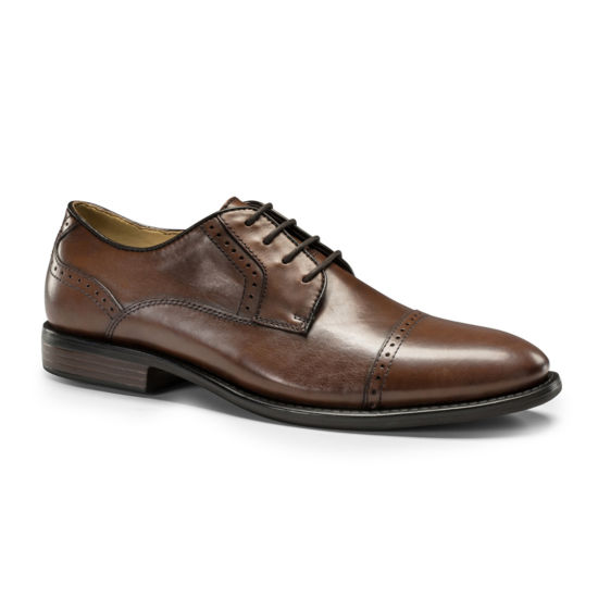 Dockers® Hawley Mens Leather Cap-Toe Oxfords