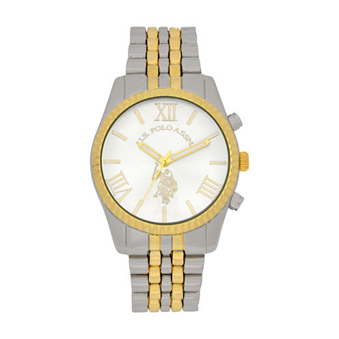 U.S. Polo Assn. Womens Two Tone Bracelet Watch-Usc40057jc