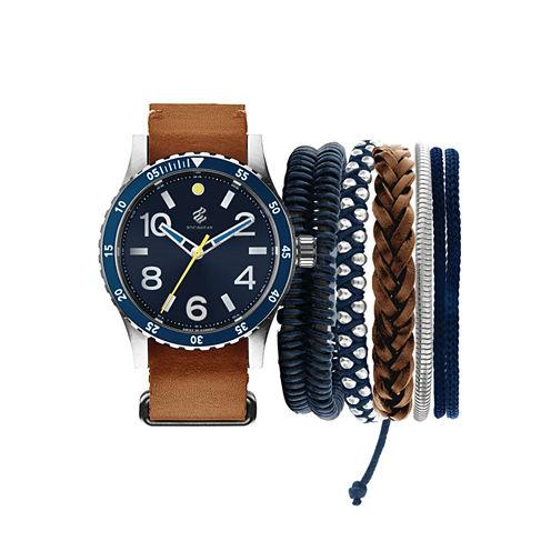 Rocawear Mens Brown Watch Boxed Set-Rmst5188s328-709