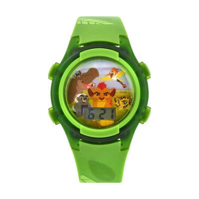 Disney Boys Lion King Green Strap Watch