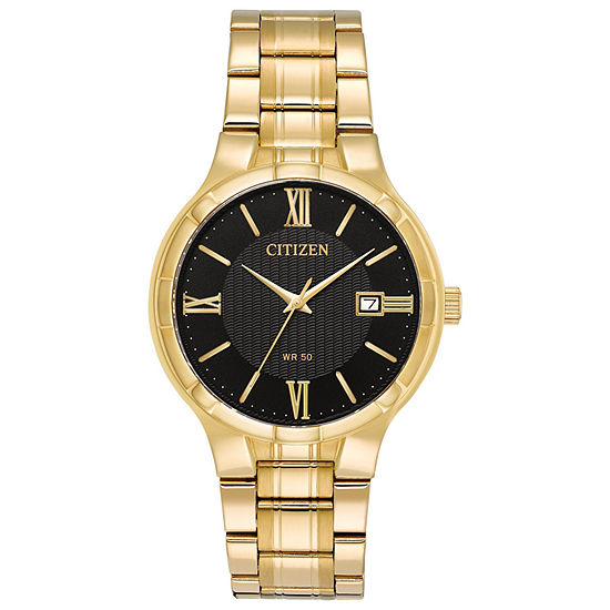 Citizen Mens Gold Tone Stainless Steel Bracelet Watch-Bi5022-50e