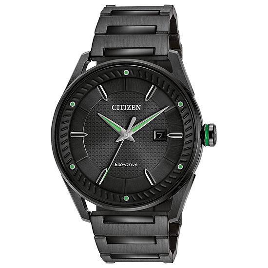 Drive from Citizen Mens Black Stainless Steel Bracelet Watch - Bm6985-55e