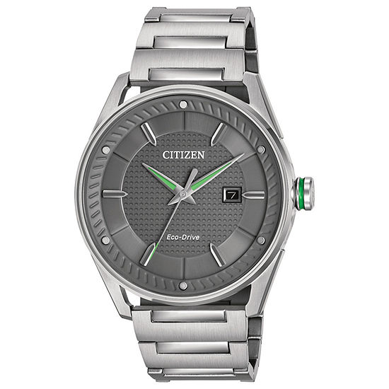 Citizen Mens Silver Tone Bracelet Watch Bm6980 59h
