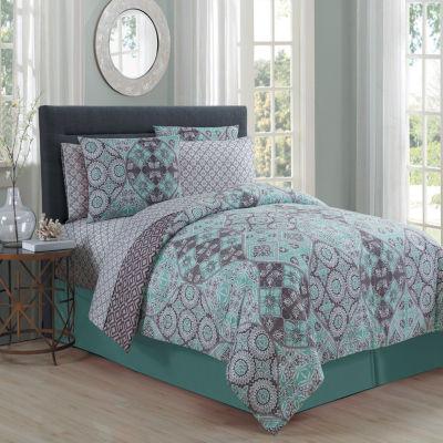 Avondale Manor Minerva 8-pc.Reversible Comforter Set