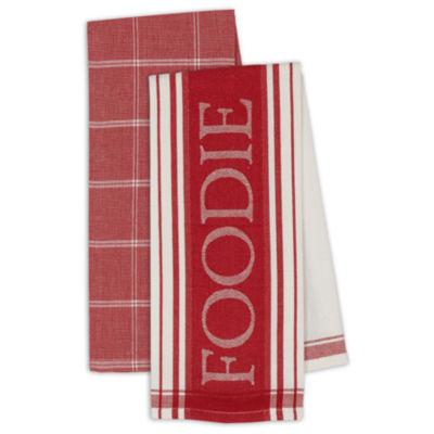 Design Imports Set of 4 Kitchen Towels