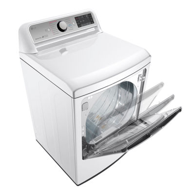 LG ENERGY STAR® 7.3 cu. ft. Ultra-Large Electric Turbo Steam™ Dryer with Steam Sanitary™