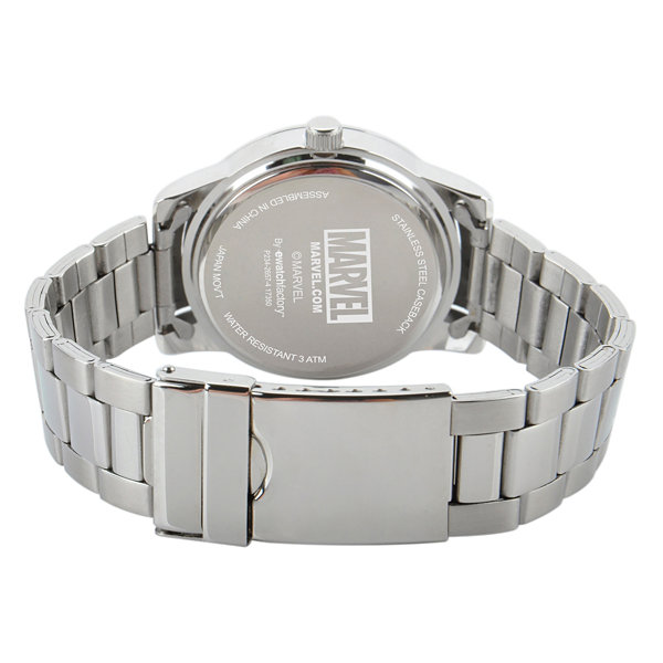 Classic Marvel Mens Silver Tone Strap Watch-Wma000054