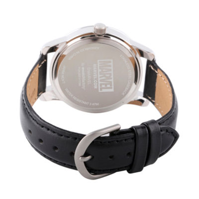Classic Marvel Mens Black Strap Watch-Wma000055