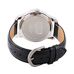 Marvel Classic Marvel Mens Black Leather Strap Watch-Wma000055