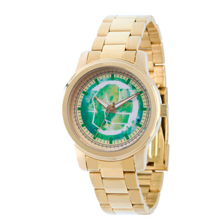 Marvel Classic Marvel Mens Gold Tone Stainless Steel Strap Watch-Wma000056. One Size