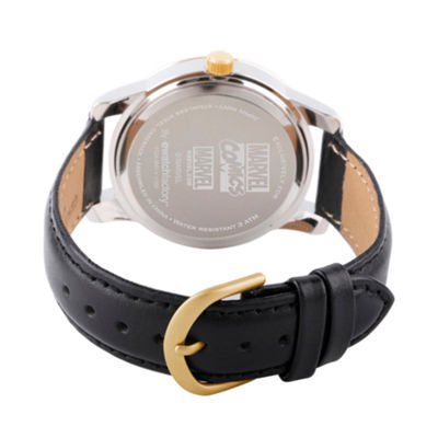 Classic Marvel Mens Black Strap Watch-Wma000058