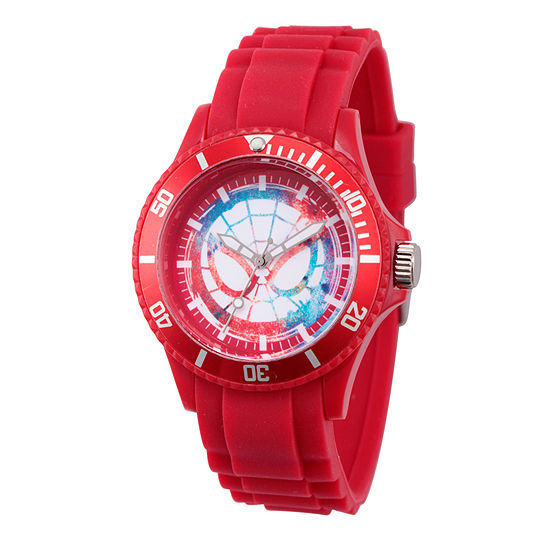 Classic Marvel Mens Red Strap Watch-Wma000064