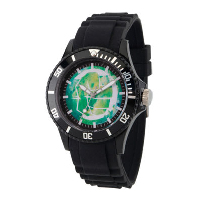 Classic Marvel Mens Black Strap Watch-Wma000065