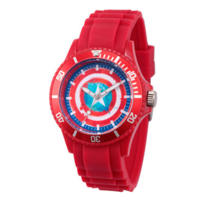 Classic Marvel Mens Red Strap Watch-Wma000066