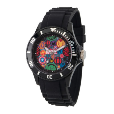 Classic Marvel Mens Black Strap Watch-Wma000068