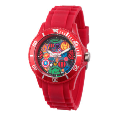 Classic Marvel Mens Red Strap Watch-Wma000069