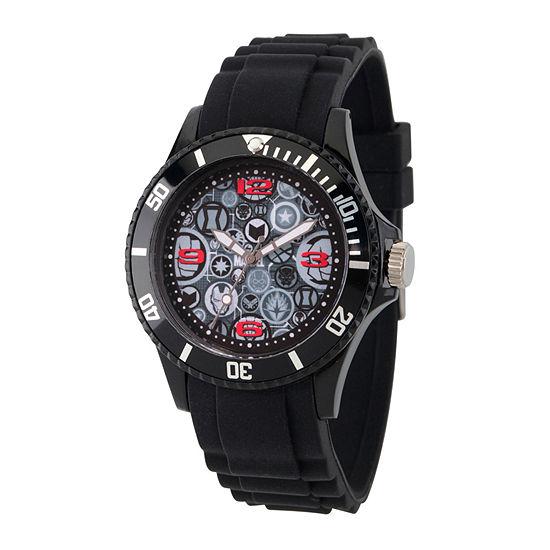 Classic Marvel Mens Black Strap Watch-Wma000070