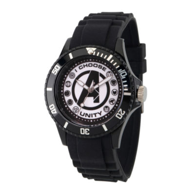 Classic Marvel Mens Black Strap Watch-Wma000071
