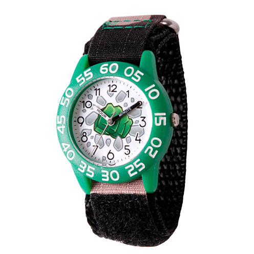 Emoji Marvel Boys Black Strap Watch-Wma000072