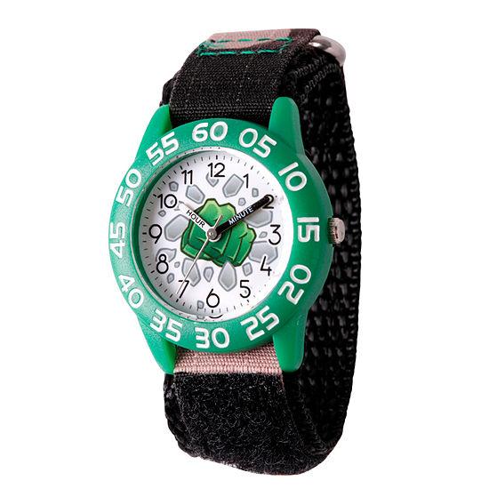 Marvel Emoji Marvel Boys Black Strap Watch-Wma000072