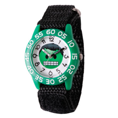 Emoji Marvel Boys Black Strap Watch-Wma000074