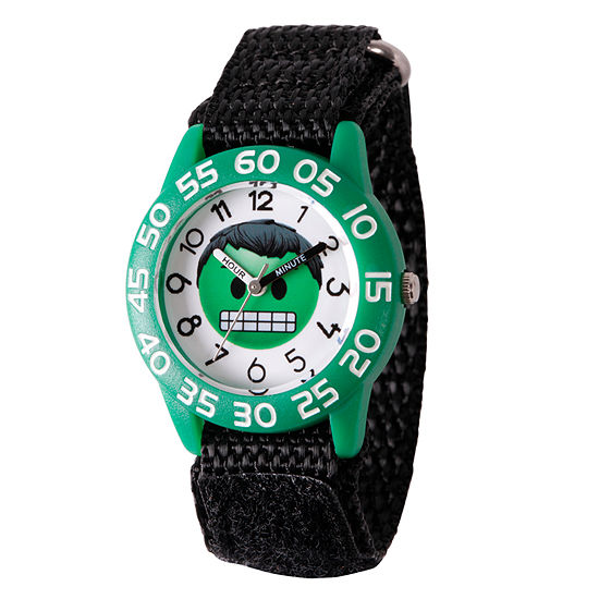 Marvel Emoji Marvel Boys Black Strap Watch-Wma000074