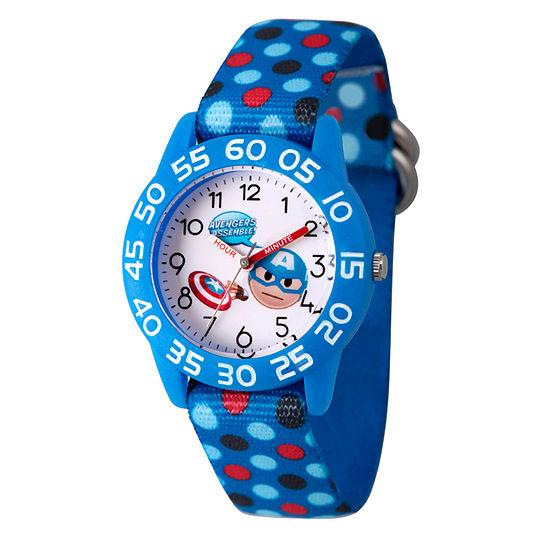 Marvel Emoji Marvel Boys Blue Strap Watch-Wma000075