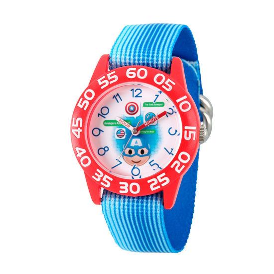Marvel Emoji Marvel Boys Blue Strap Watch-Wma000076