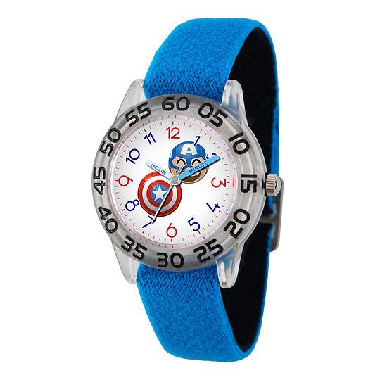 Marvel Emoji Marvel Boys Blue Strap Watch-Wma000077