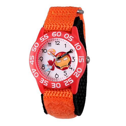 Emoji Marvel Boys Orange Strap Watch-Wma000078
