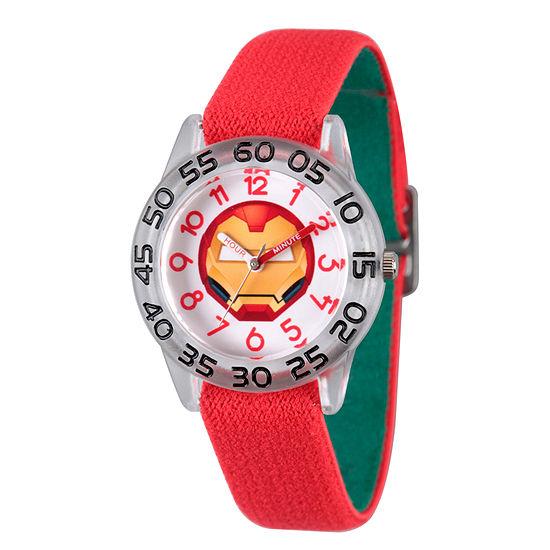 Marvel Emoji Marvel Boys Red Strap Watch-Wma000079