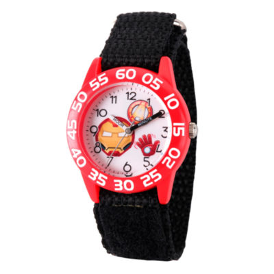 Emoji Marvel Boys Black Strap Watch-Wma000080