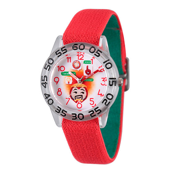 Marvel Emoji Marvel Boys Red Strap Watch-Wma000081