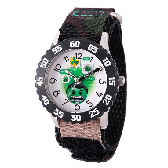 Emoji Marvel Boys Black Strap Watch-Wma000085