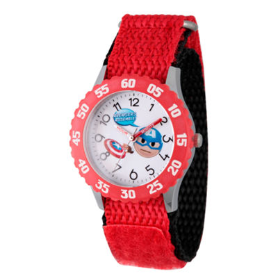 Emoji Marvel Boys Red Strap Watch-Wma000087