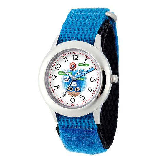 Emoji Marvel Boys Blue Strap Watch-Wma000088