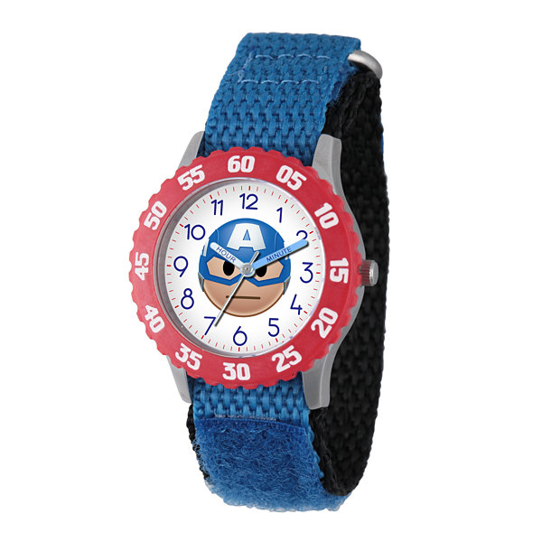 Emoji Marvel Boys Blue Strap Watch-Wma000089