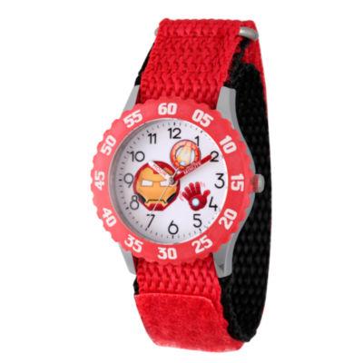 Emoji Marvel Boys Red Strap Watch-Wma000090
