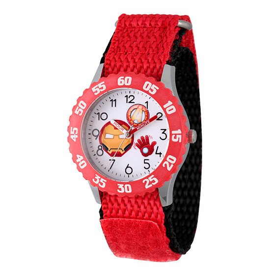Emoji Marvel Boys Red Strap Watch-Wma000090